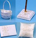 Florenzia Ivory Embroidery on White Peau de Soie